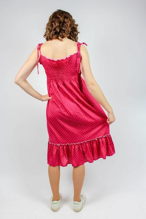 Rüschenkleid pink