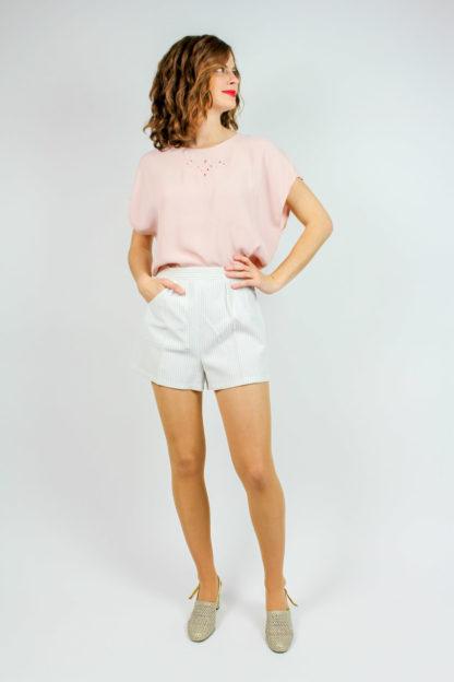 Shirt rosa Stickerei