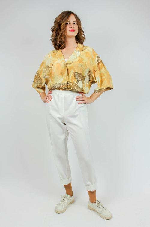 Vintage Bluse mit Muster