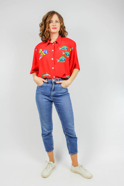Vintage Bluse rot