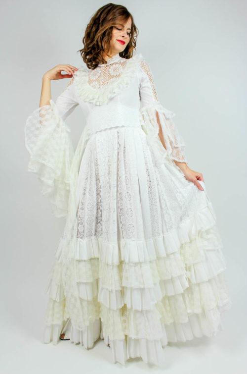 Vintage Brautkleid weiß
