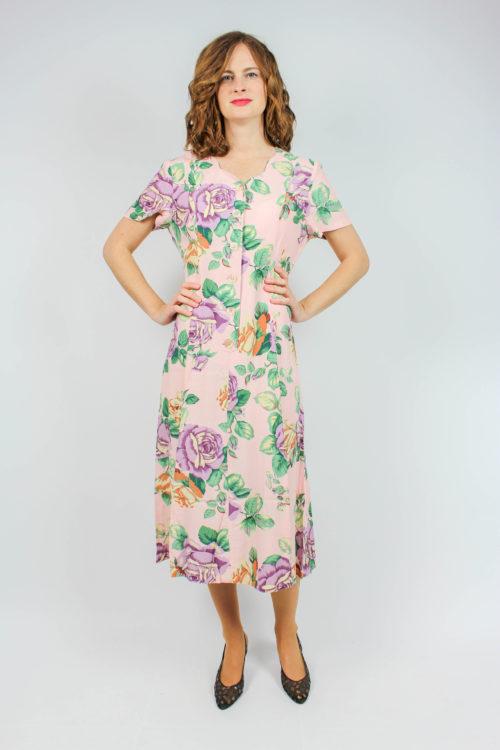 Vintage Kleid Midi