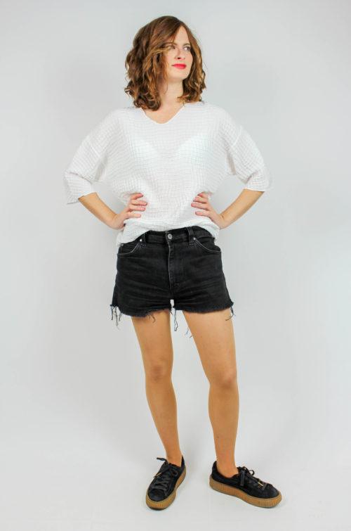 Vintage Pullover weiß