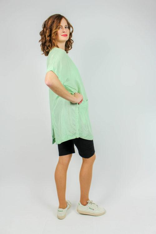 grüne Bluse Seide