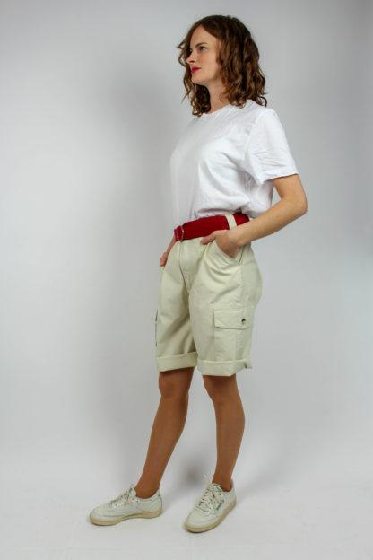 kurze Hose beige