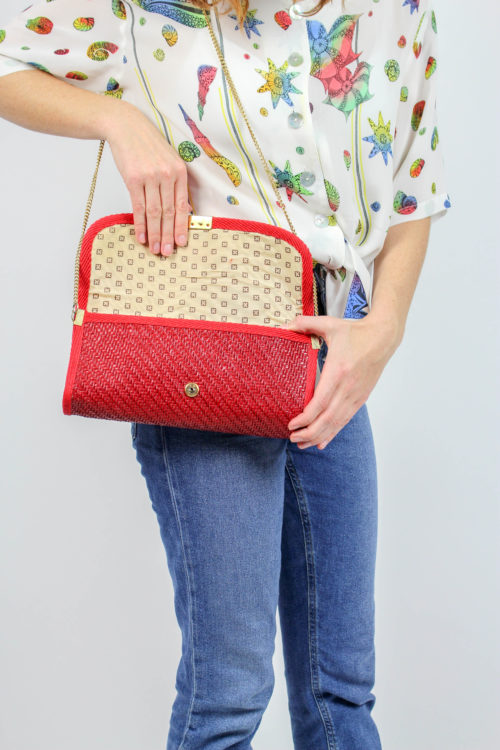 rote Tasche Secondhand