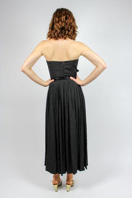 schwarzes Kleid reine Seide
