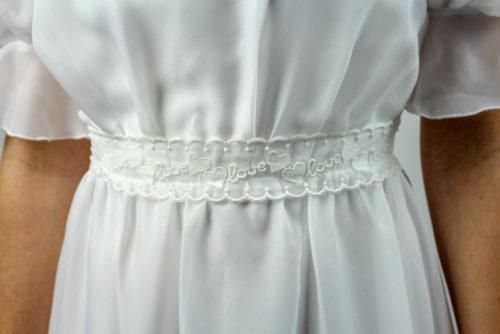 weißes Brautkleid kurzarm