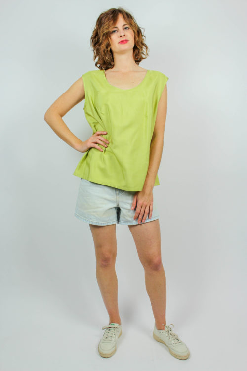 Bluse grün ärmellos