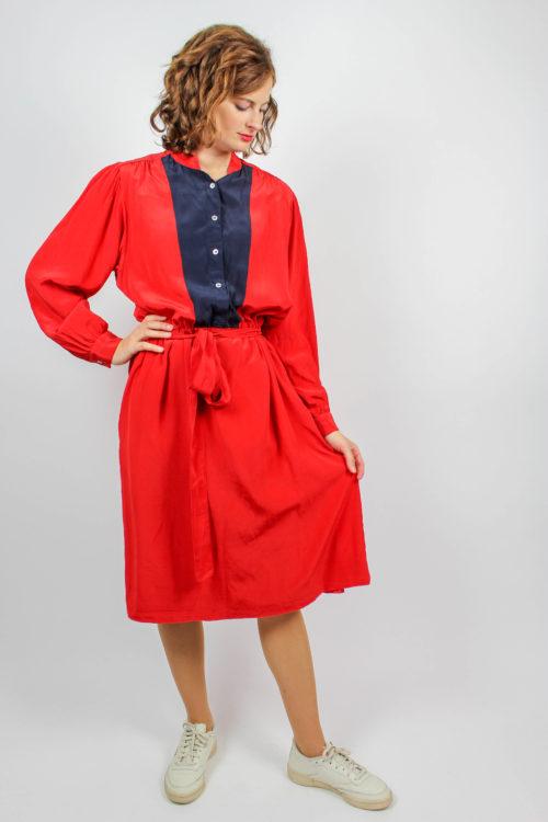 Kleid rot reine Seide