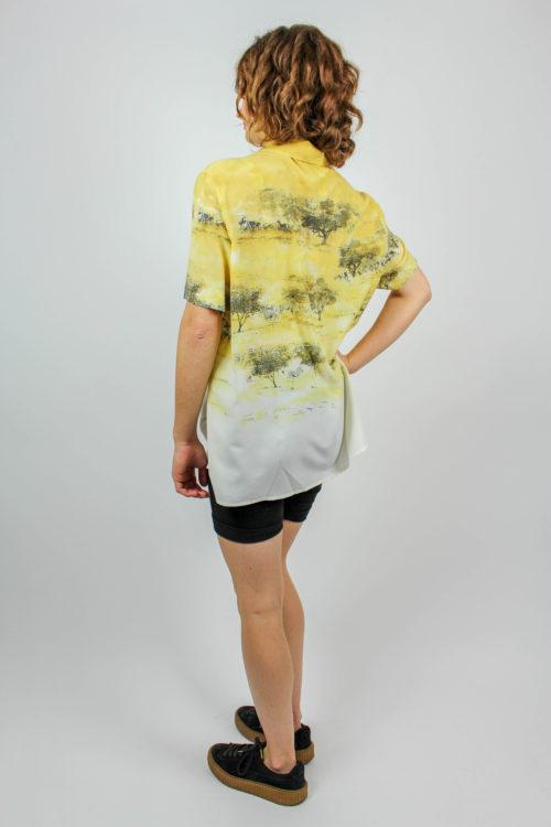 Sommerbluse gelb weiß