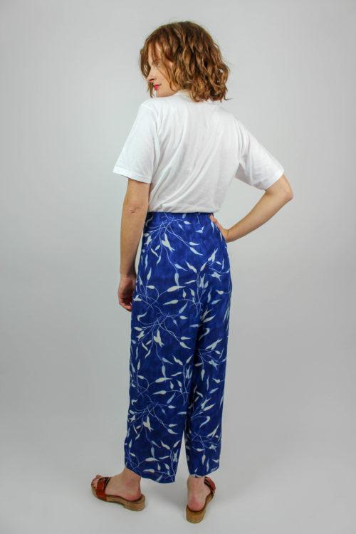 Sommerhose blau weiß