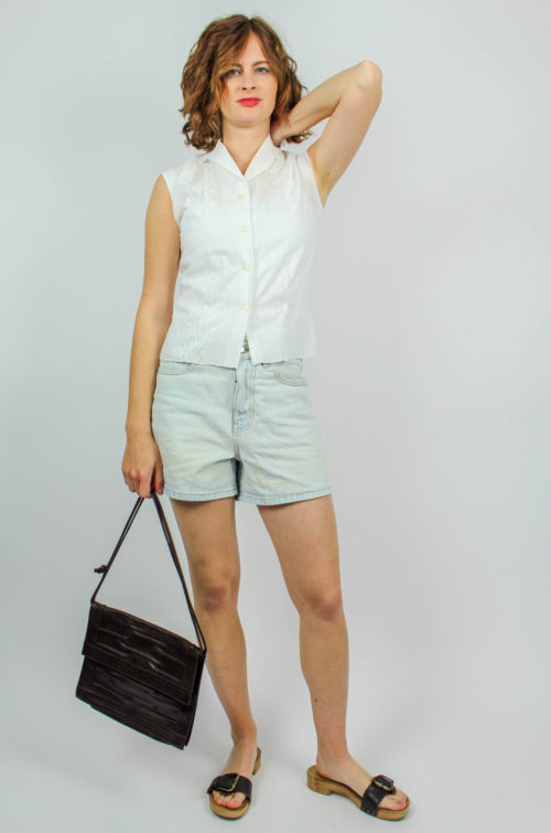 Vintage Bluse ärmellos