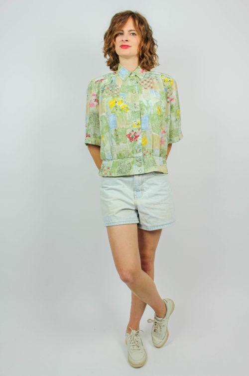 Vintage Bluse grün