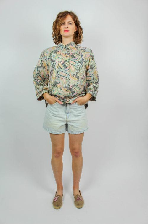 Vintage Bluse pastellfarben