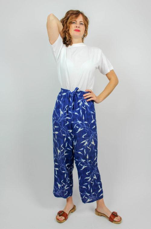 Vintage Hose blau weiß