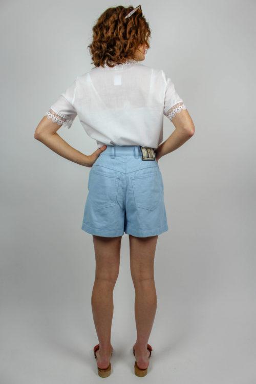 weiße Bluse kurzarm
