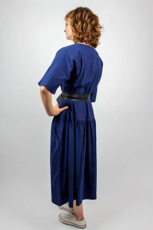 Blaues Designerkleid