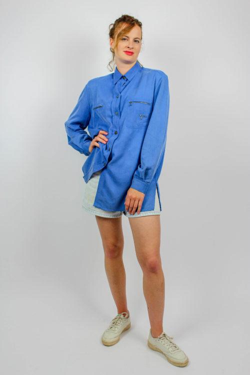 Blusenhemd blau