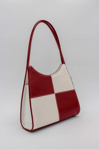 Handtasche rot weiß