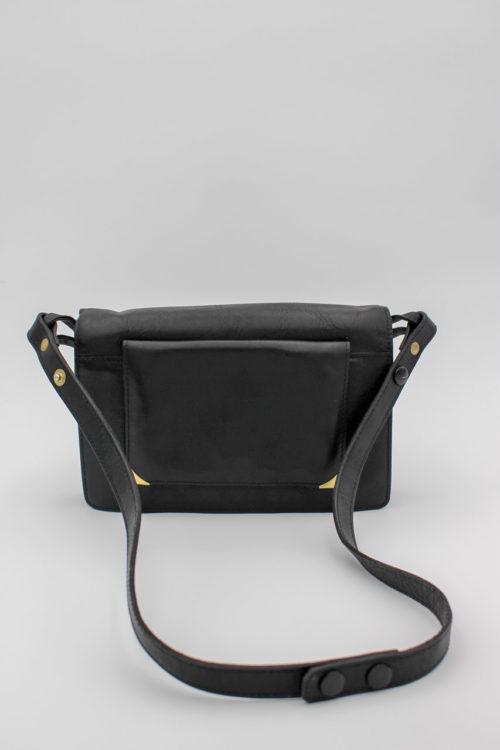 Handtasche schwarz Fächer