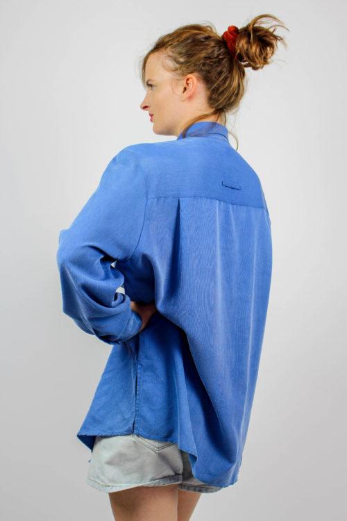 Hemdbluse blau