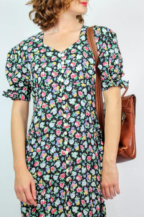 Kleid Midi florales Muster