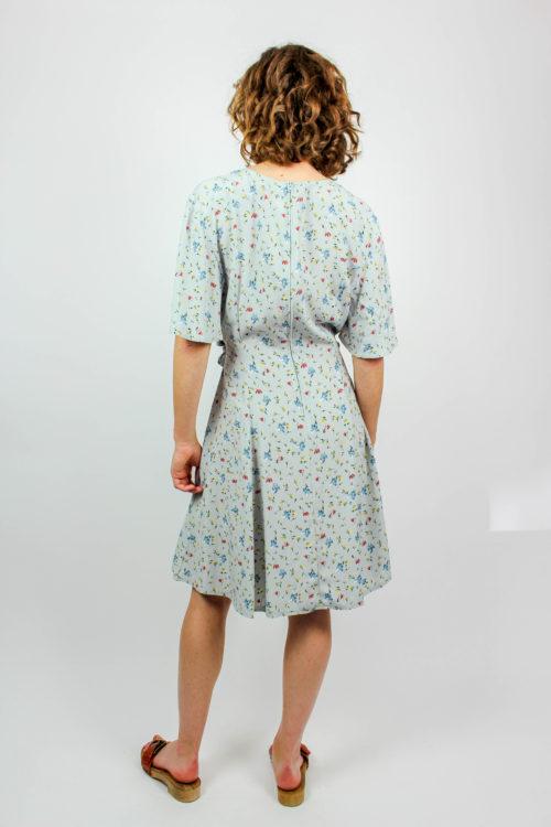 Kleid blau Blumenmuster