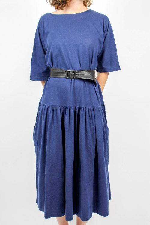 Kleid blau kurzarm