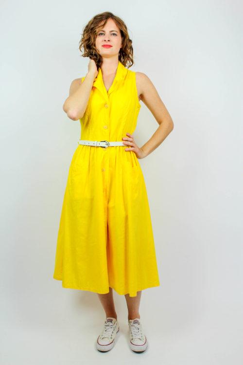 Kleid gelb kurzarm