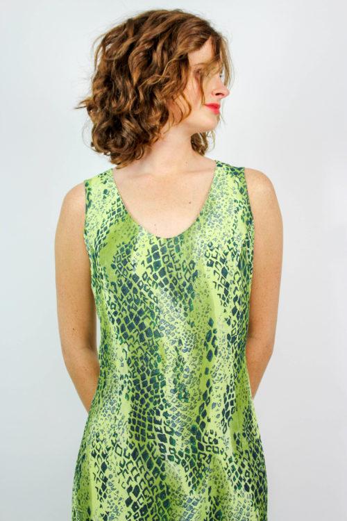 Kleid grün Maxi