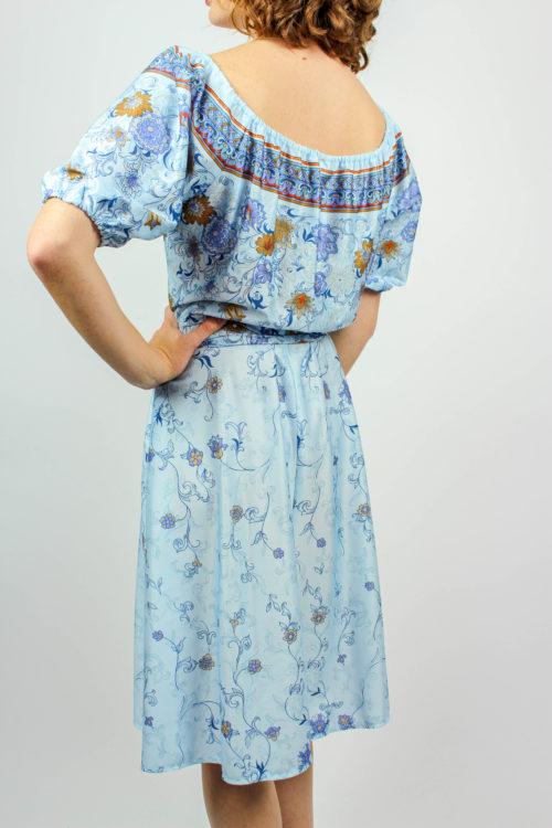 Kleid hellblau off Shoulder