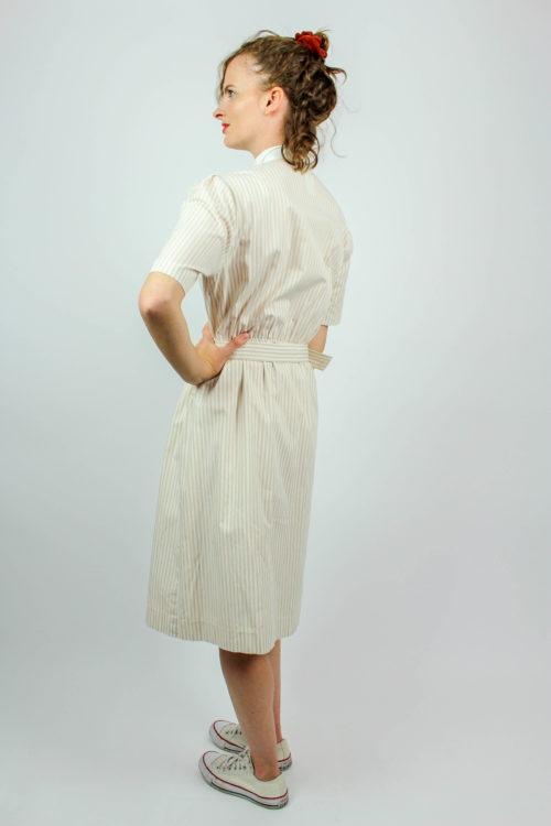 Kleid kurzarm weiß