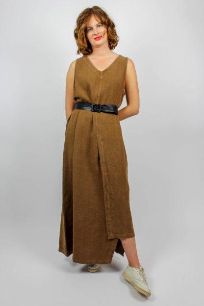 Kleid lang braun