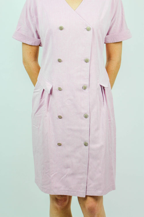 Kleid rosa kurzarm