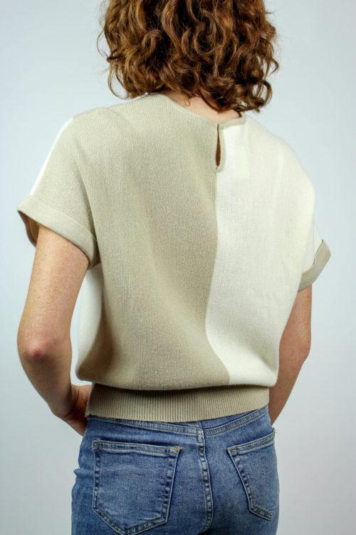 Pullover beige kurzarm