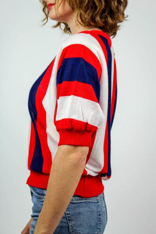 Shirt gestreift rot blau weiß