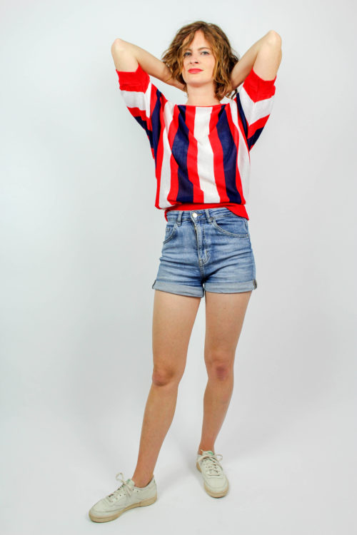 Shirt kurzarm breite Streifen