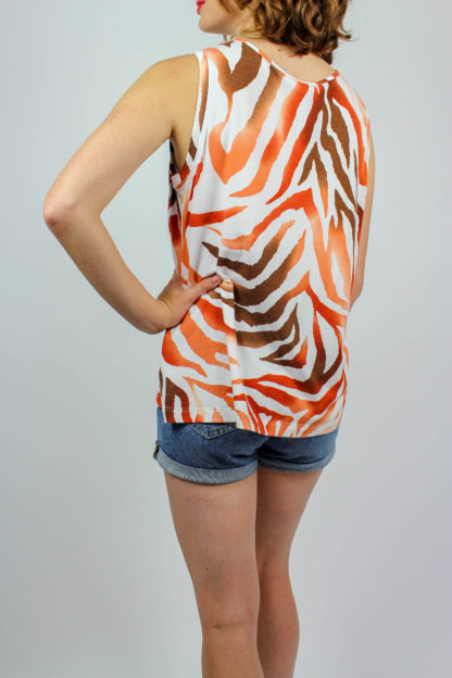 Shirt weiß orange