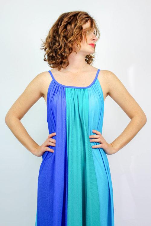 Sommerkleid blau türkis