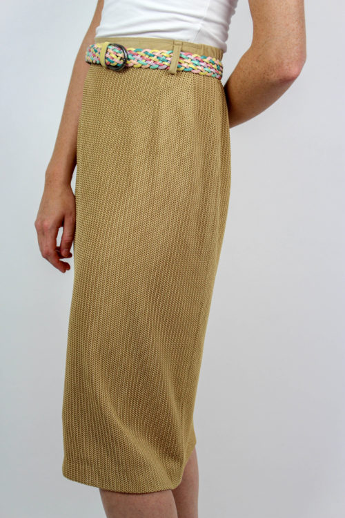 Strickrock beige Secondhand