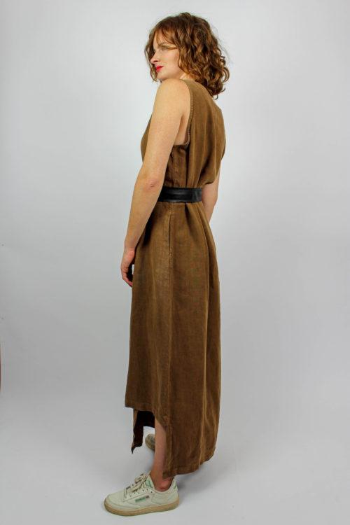 Trägerkleid braun
