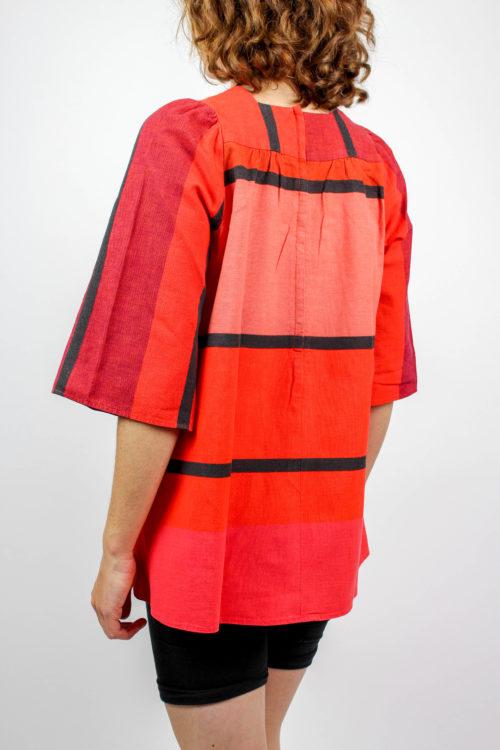 Tunika rot schwarze Streifen