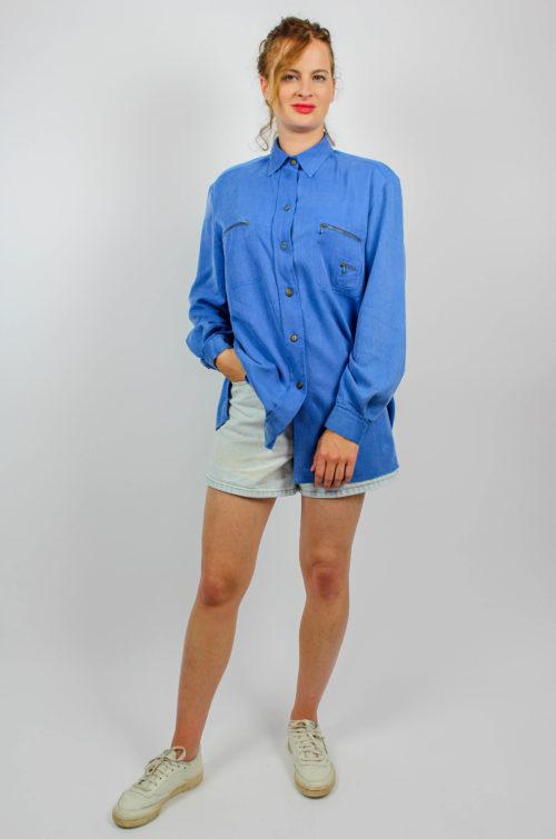 Vintage Bluse blau