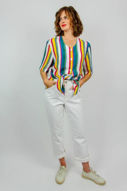 Vintage Bluse gestreift