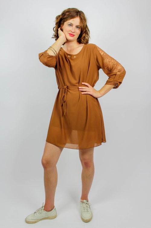 Vintage Kleid braun