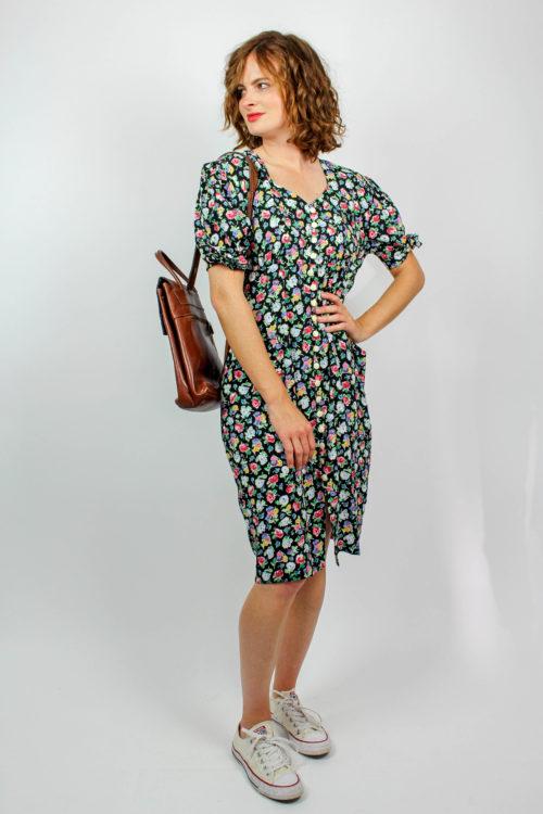 Vintage Kleid geblümt