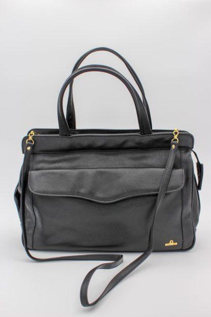Vintage Ledertasche schwarz