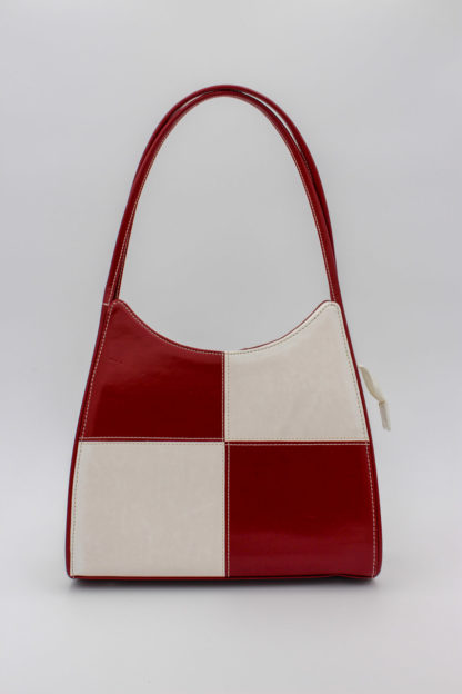 Vintage Tasche rot weiß