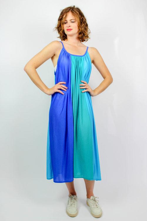 Vintage Trägerkleid blau